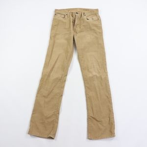 Gap Mens 30x32 Straight Leg Corduroy Khaki Pants